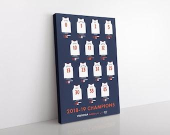 Virginia Cavaliers 2019 Men's Basketball Champions Canvas/Print