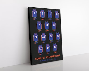 Florida Gators 2007 Men's Basketball Champions Canvas/Print