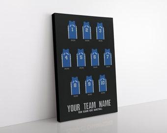 Custom Basketball Team Jerseys Canvas/Print | MINIMUM ORDER QTY - 5
