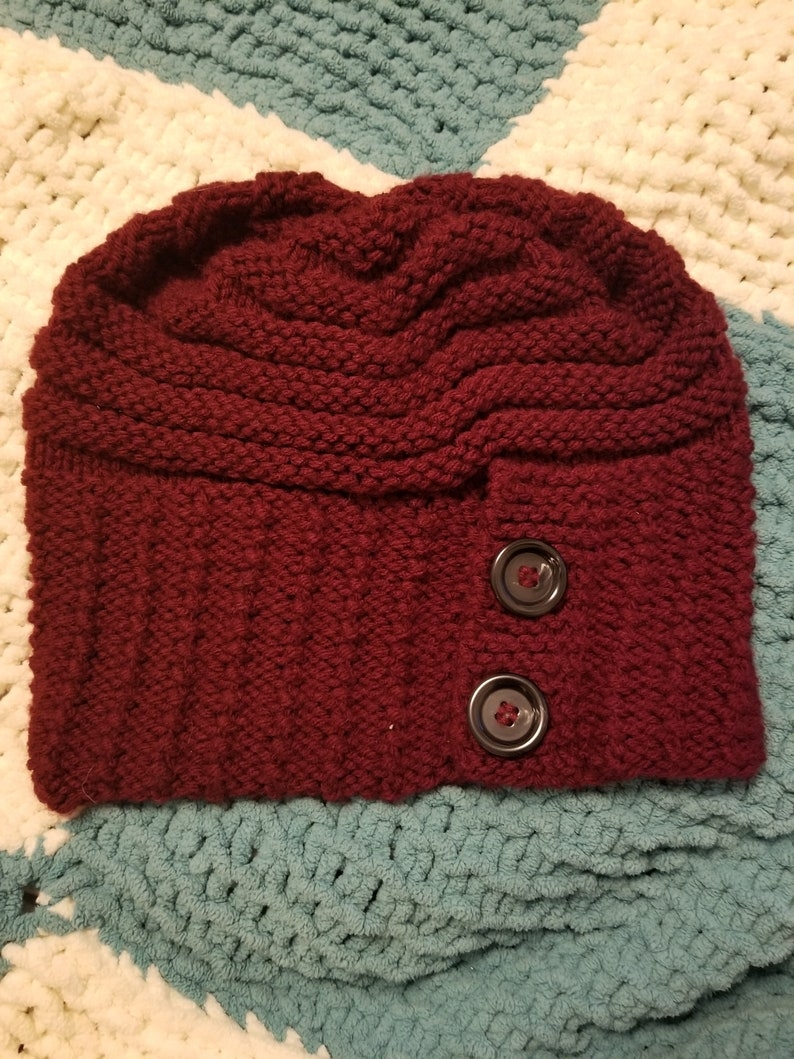 Maroon Fashion Hat and Scarf