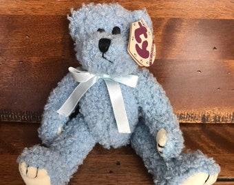 618e9864e55 Ty Teddy Bear. Fully jointed. Blue Teddy Bear. Attic Treasures Collection