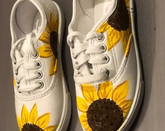 Women/'s Custom Shoes Toddler/'s Custom Shoes Custom Sneakers Sunflower and Bee Custom Shoes Sunflower Shoes Summer Shoes