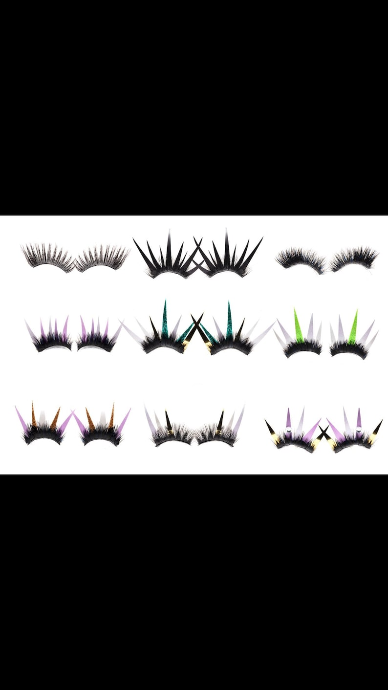 All lashes 10.00 each for halloween image 0