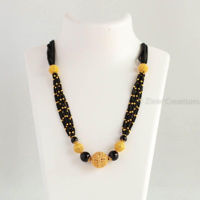 e21ad37596b3e Short Fancy Mangalsutra, south mangalsutra, ethnic, indian jewellery