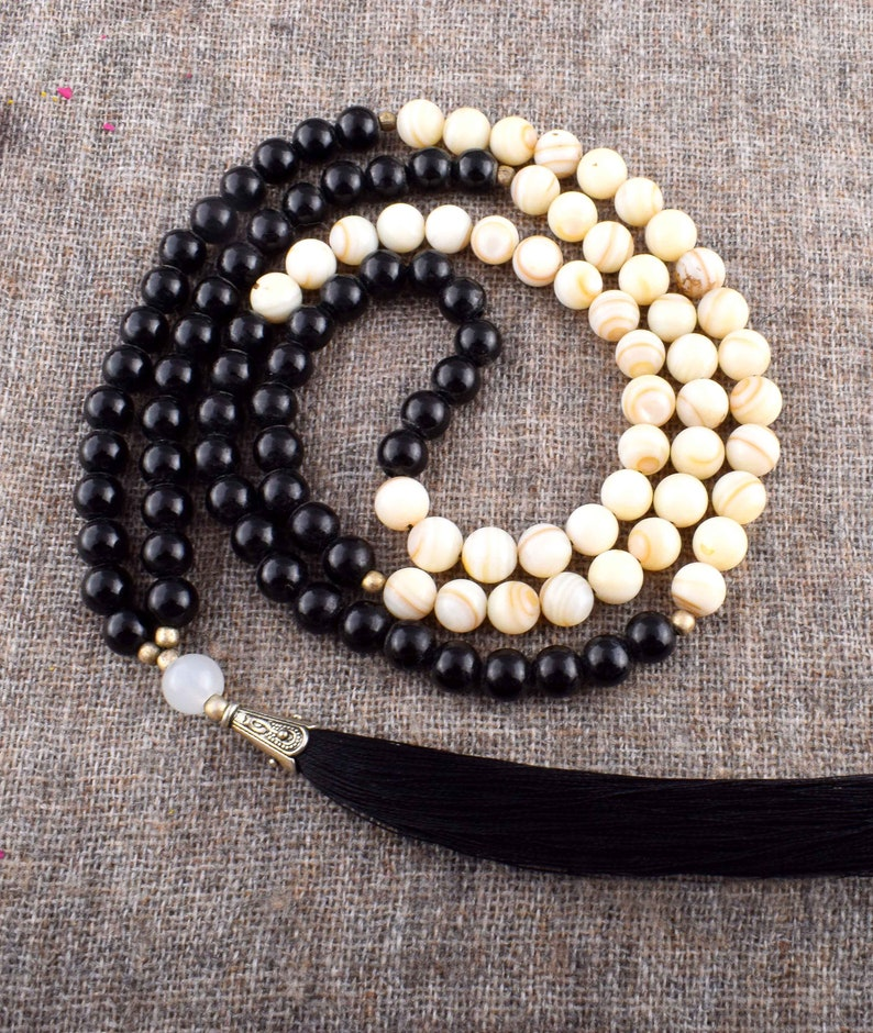 Healing Spiritual Jewelry 108 Real Bead Mala yoga beads Seven Chakra Necklace,