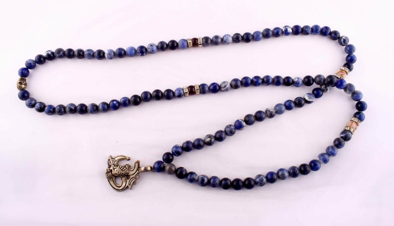 Mala necklace Hand Knotted Necklace Tassel necklace Gift for Meditation Prayer Necklace Healing necklace Japa mala Yoga mala