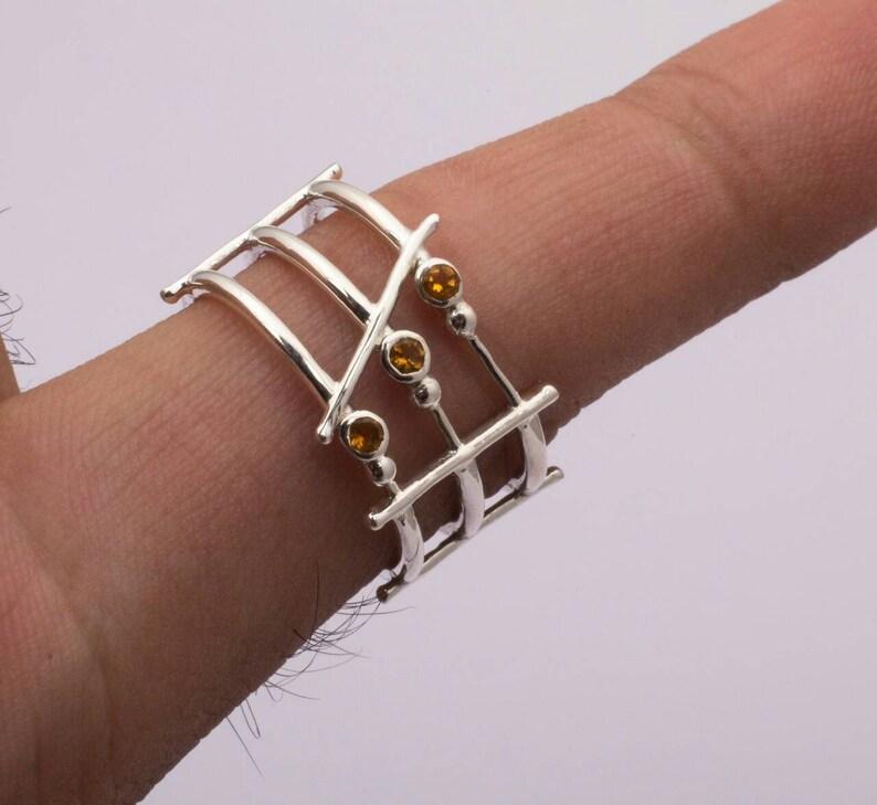 Smoky gemstone Sterling silver ring Smoky Ring