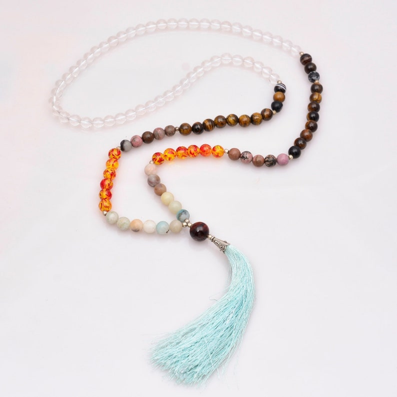 Healing Spiritual Jewelry Meditation mala Healing Spiritual Jewelry boho necklace Petite Mala Necklace