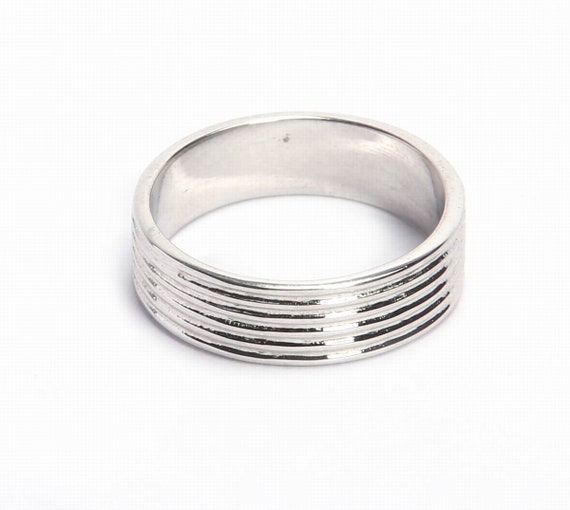 Plain Ring 925 Sterling Silver Big Boho Plain Silver Ring