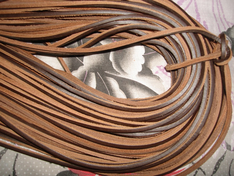 One Pair 120 cm 60 cm Brown Full Grain Leather 3.5mm Square Shoe  Boot Laces Thongs Extra Strong,Various Lengths 180 cm Long