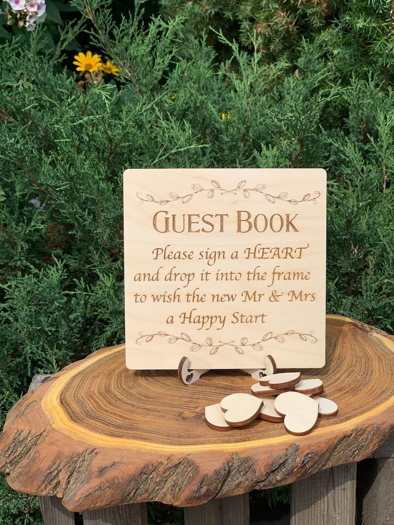 Guest book wood Wedding guest book sign Guest book wedding alternative Rustic wedding guestbook Alternative wedding guest book