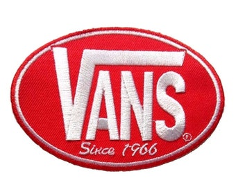 f86c8397d1aa Vans Skateboard Red Iron On Patch