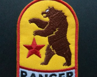 New Vegas Ranger Bear NCR Cosplay Gamer Fallout Logo Iron On Patch 0a42972a1199