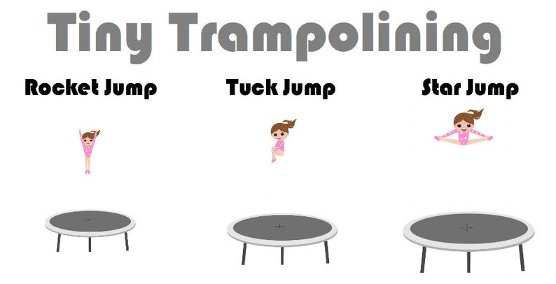 Gymnastics Trampoline Exercises Poster - For Ages 3 +