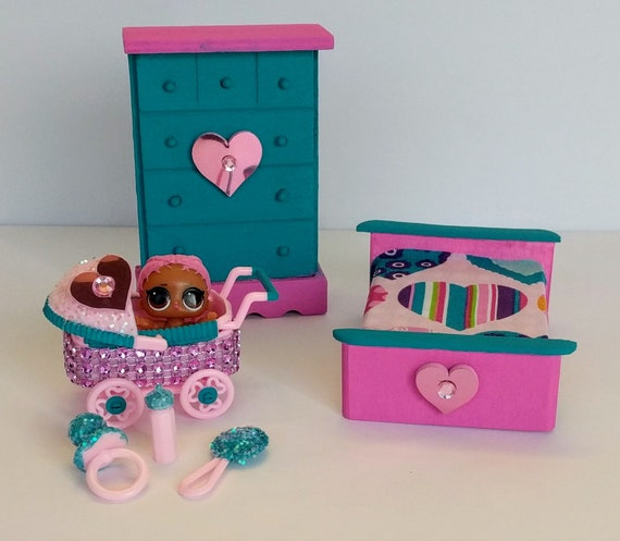 LOL Surprise Doll Custom Made Wood Dollhouse Furniture And
