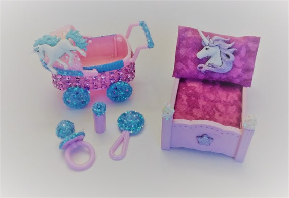 Lol Surprise Doll Custom Made Unicorn Bed And Stroller Set Etsy