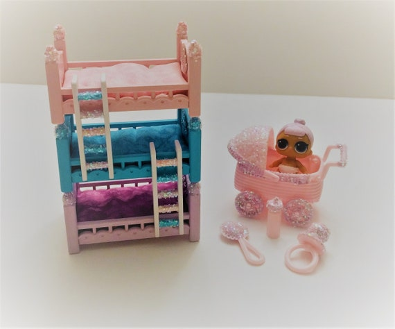 Lol Surprise Doll Custom Made Bunk Beds Stroller And Etsy