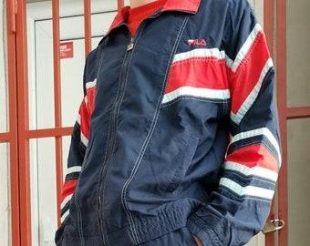 90 s Fila tracksuit   Fila set   vintage Fila   mens   womens   size medium  M   color blue red   vintage logo   vintage sportswear   unisex b3f1bae47