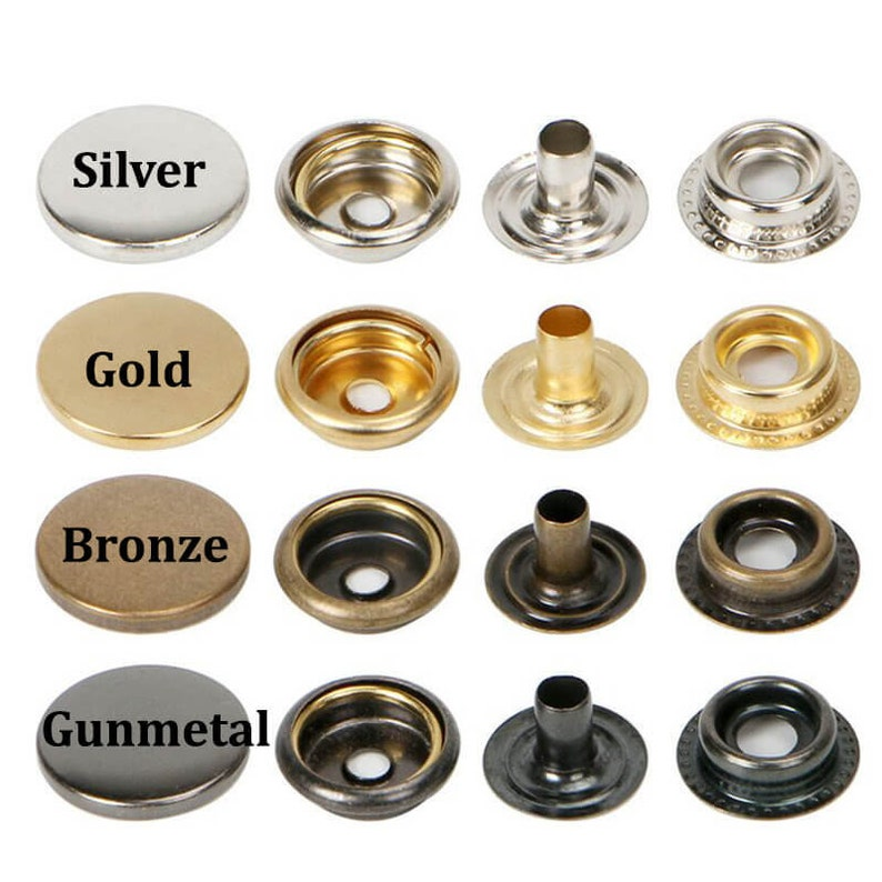--Snap Button Mould Heavy Duty Snap Button Kit Metal Snap Button Snap Fasteners Button Mold Utility Spring Metal Snaps Dies Sets 12.5mm,15mm