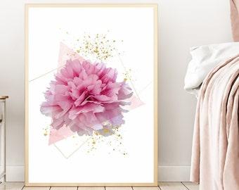Pink bedroom decor | Etsy