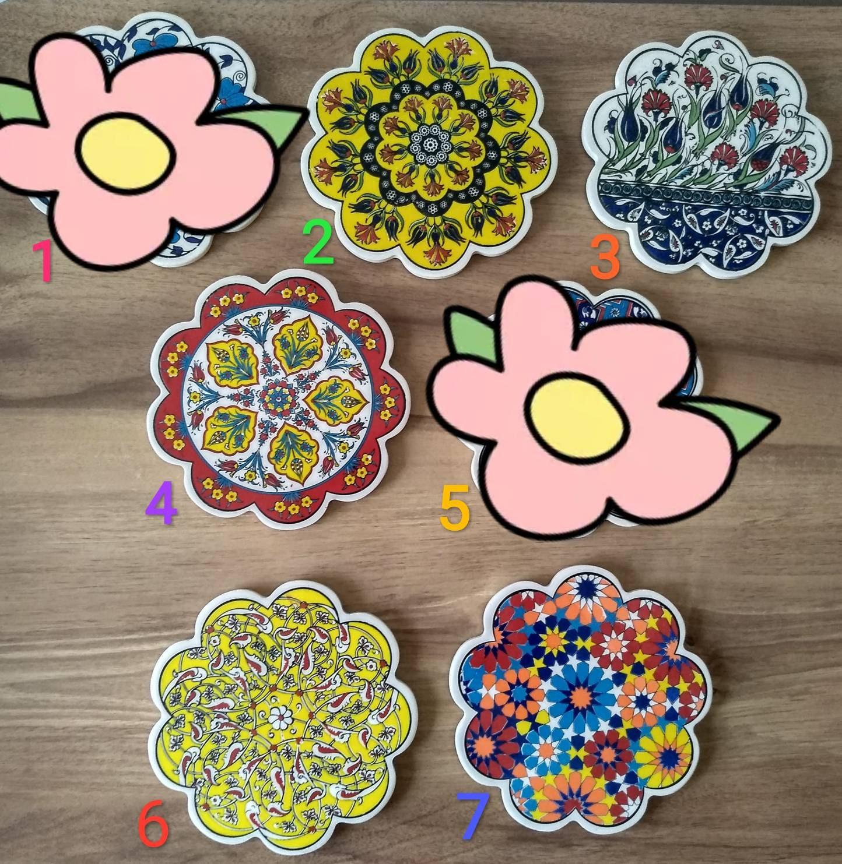 Home Furniture Diy Other Tableware Turkish Ceramic Trivet Tile Traditional Iznik Design Tea Pot Hot Plate 18 Cm Bortexgroup Com
