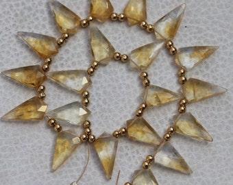 Gemstone C3 Mid Bezel Pendant Citrine Faceted 925 Sterling Silver DIY Pendant Chain Jewelry Bracelets Friendship bracelets handmade bezel