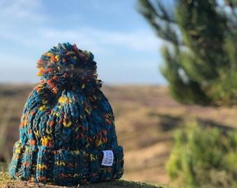 Pachamama Christmas Elf Hand Knitted in Nepal Warm Winter Bobble Beanie Hat