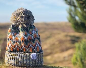 Nordic Beanie Bobble Winter Hat