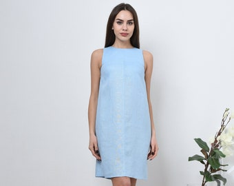 a025b9e560 Linen shift dress - loose linen dress in 20 colors  Blue linen dress    Summer linen dress  sleeveless dress  093-A