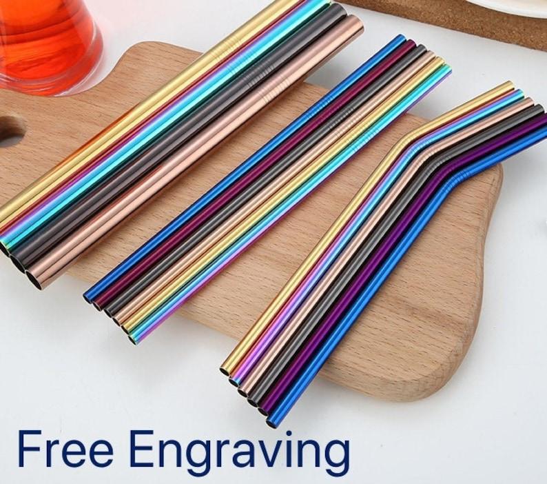 Personalised Stainless Steel Metal Drinking Straws FREE image 0