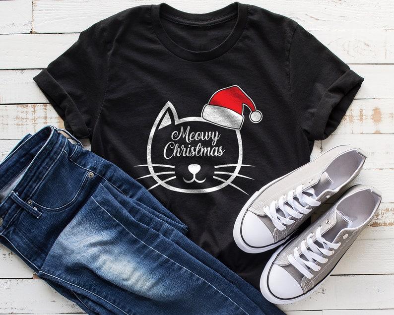76d11693 Meowy Christmas Shirt Christmas Cat Shirt Cat Shirt Funny | Etsy