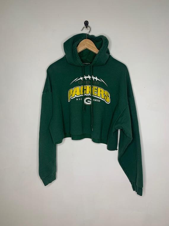 Vintage green bay packers cropped sweatshirt crop