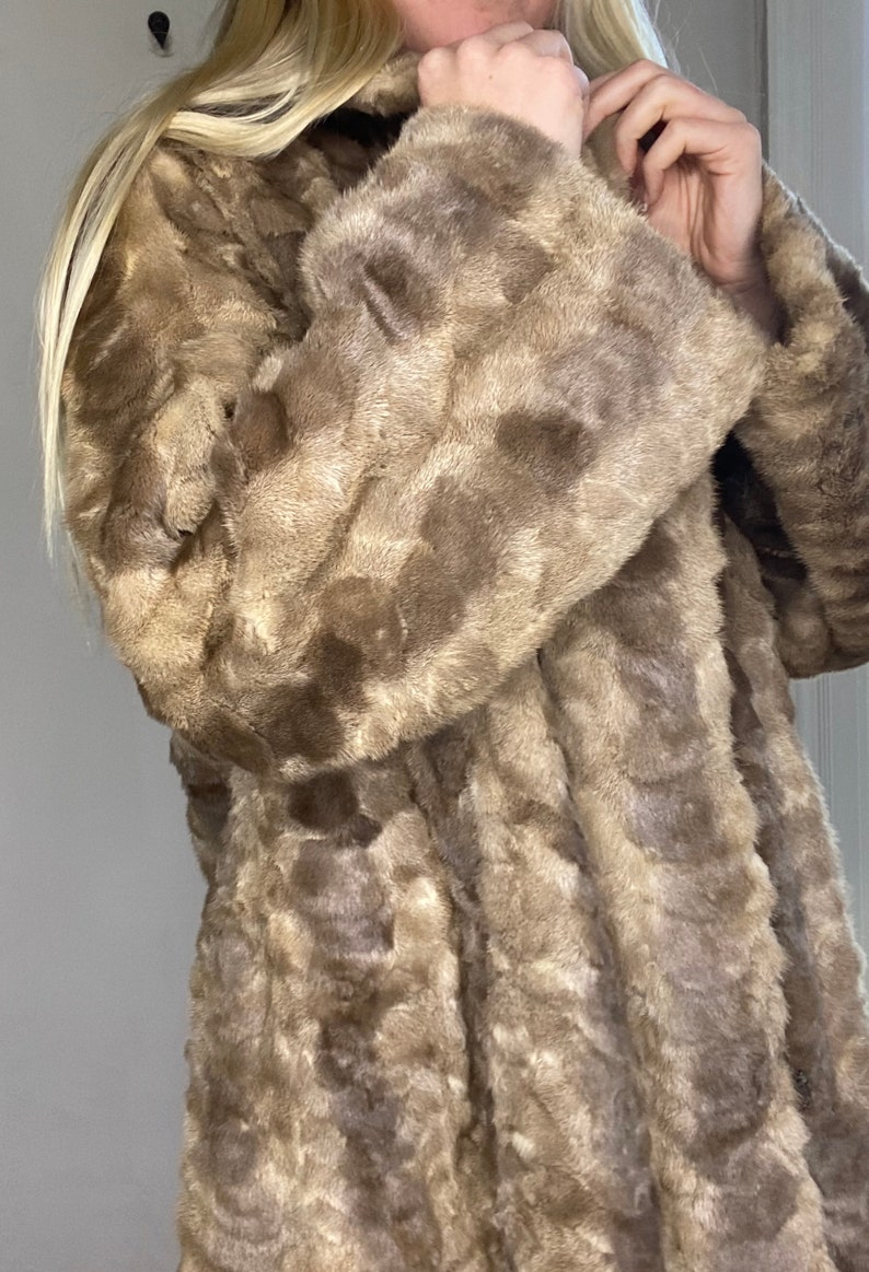 Vintage fur full length mink coat unknown fur classic warm stylish collector beautiful