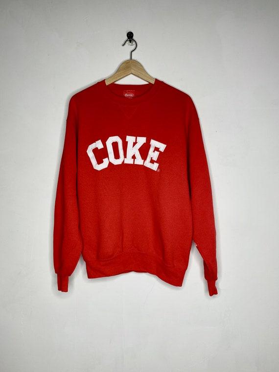 Vintage 90s COKE Crewneck Coca Cola soda red trend