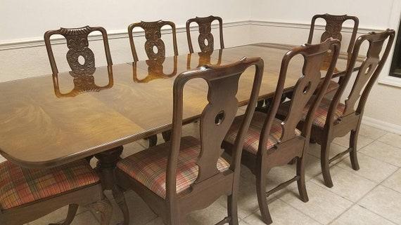 Vintage Henredon Dining Set [9 Pieces]
