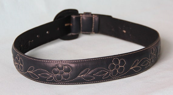 Belt 70's embroidered flowers - image 10