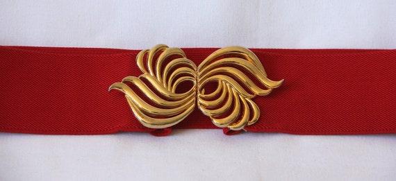 80's elasticated chic belt