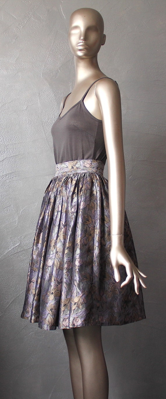 80'S metallic fabric skirt