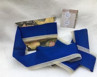 Vintage silk and lace ribbon edging, trim for hat making, craft, upholstery, Needlework, sewing, collage, junk journals, ephemera