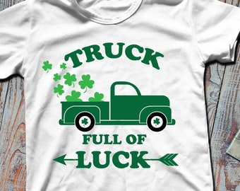 Truck full of luck svg Cutting Files and ClipArt SVG DXF EPS png jpg digital design for iron on heat transfer decal vinyl t shirt