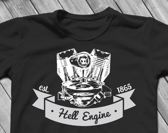 Hell Engine Custom Motors  Cutting Files and ClipArt SVG DXF EPS png jpg digital design for iron on heat transfer decal vinyl t shirt