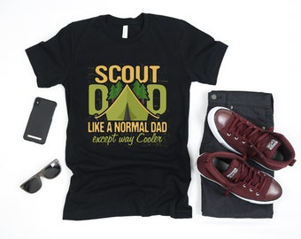 677154ca Scout Dad Scouting | Like A Normal Dad Except Way Cooler | Boy Cub Scout  Leader | Eagle Outdoor Camping Hiking Short-Sleeve Unisex T-Shirt