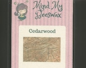 Cedarwood Scent Beeswax Melts Scented by Mind Your Beeswax Nature Natural Woods Wood