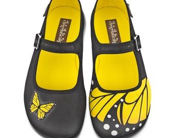 Hot Chocolate Design Women's Mary Jane Flat Shoes | Etsy