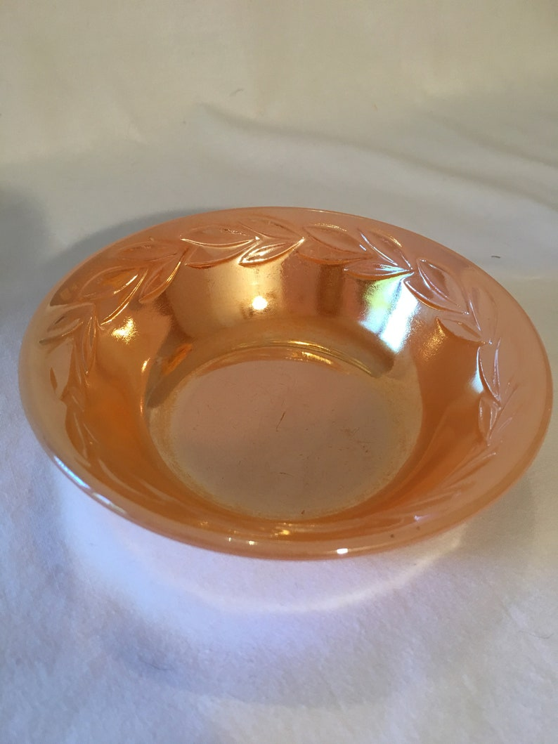 Fire King Peach Luster Bowl