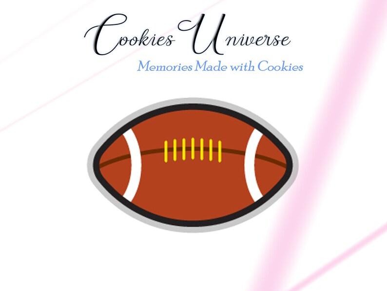 Fondant Cutter Football Cookie Cutter