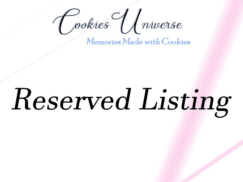 Custom Order Reserved Listing for Olesya