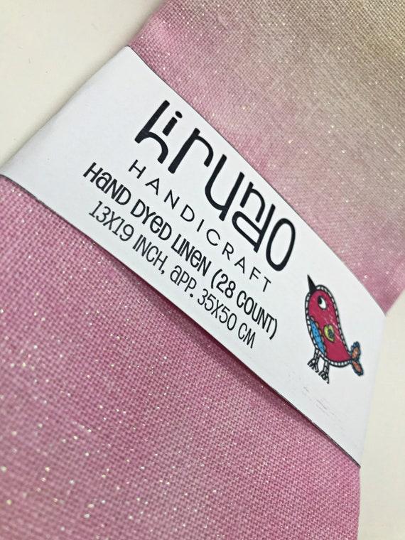 Lilac 35x50 cm Hand dyed linen 35 ct 13x19 inch HirundoHandicraft