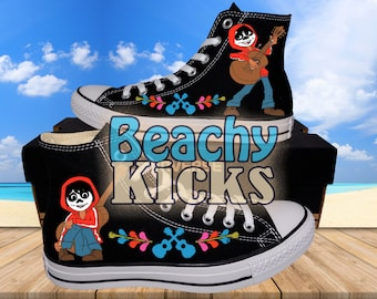 01dd947a909a Coco Miguel Custom converse   Hand Painted shoes   Birthday Gifts   Free US  Shipping