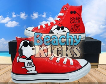 Snoopy Custom converse   Hand Painted shoes   Birthday Gifts   Free US  Shipping 632441e04